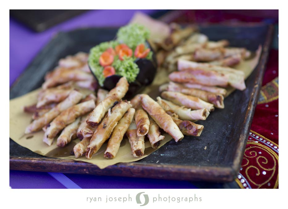 Asian appetizer for reception catering