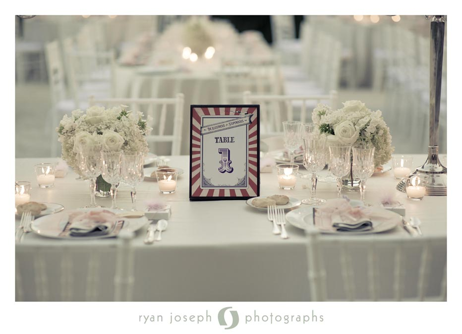 Classic design table with themed accessories
