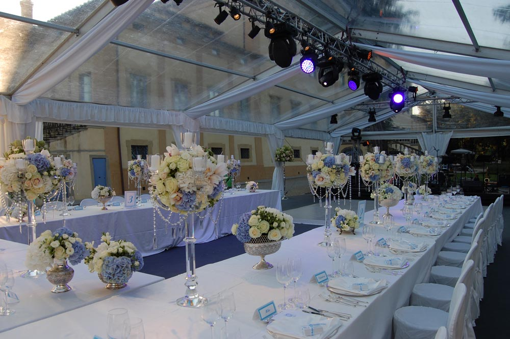 Crystal Tent and light design