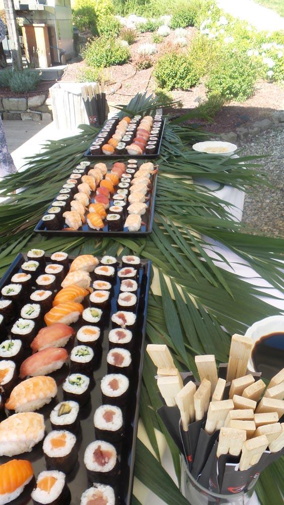 Sushi style buffet tuscanbites catering