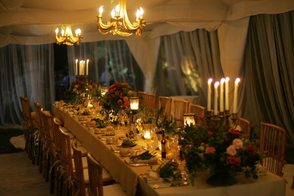 Table arrangement -Tuscan Country style