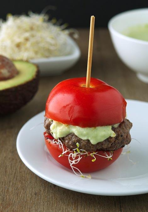 Tomato Burger Tuscanbites