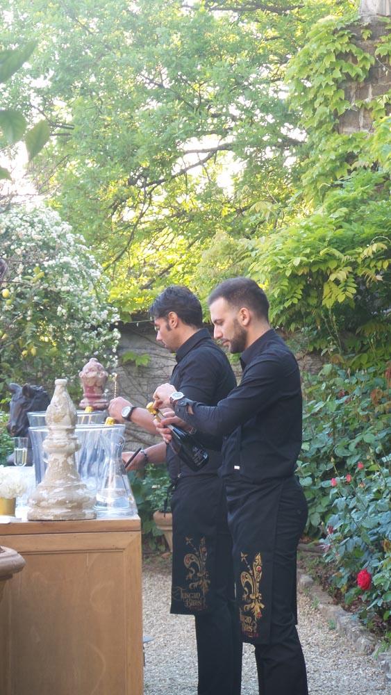 Tuscanbites bartenders preparing bar