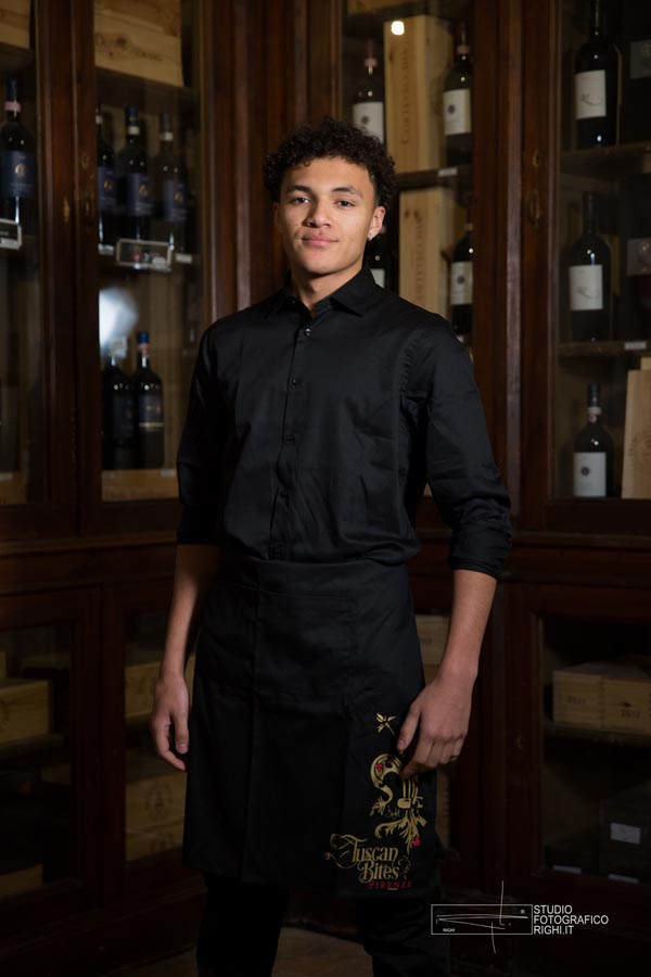 Tuscanbites catering black waiters attire
