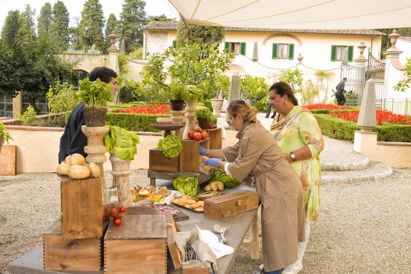 Tuscanbites catering buffet preparation