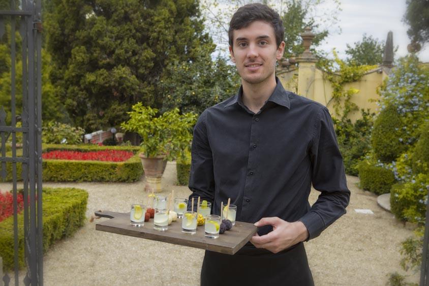 Tuscanbites waiter boy serves drink