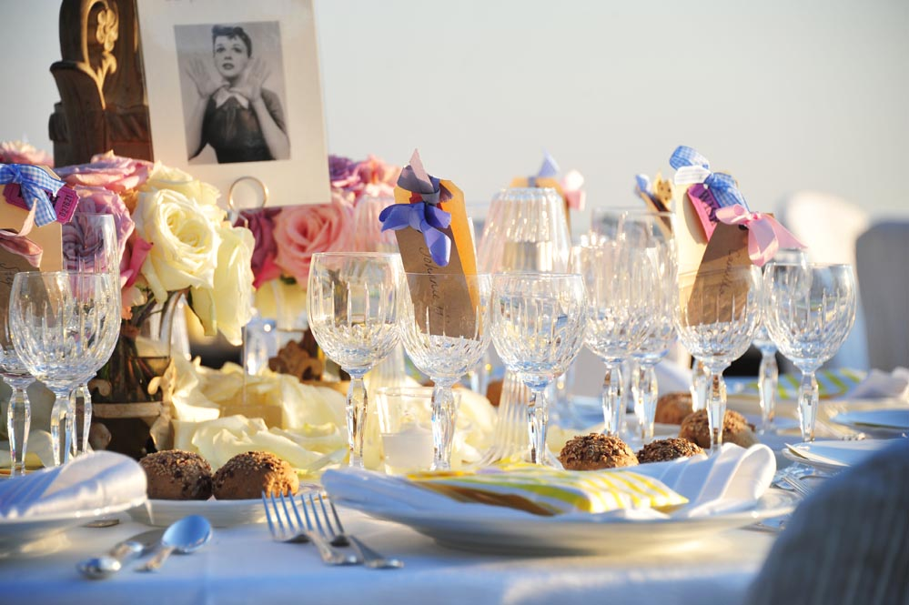 chic colored setting table