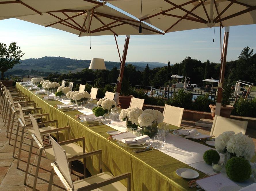 country reception settings tuscany Tuscanbites