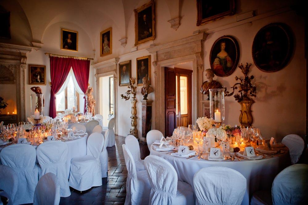 elegant setting in ancient villa