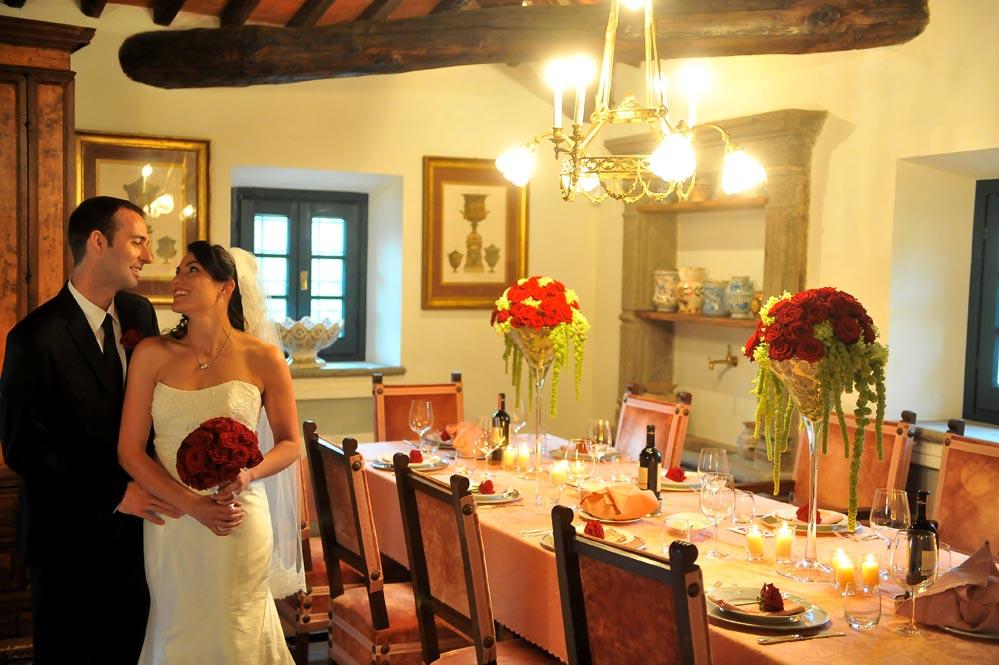 happy couple small reception wedding tuscanbites