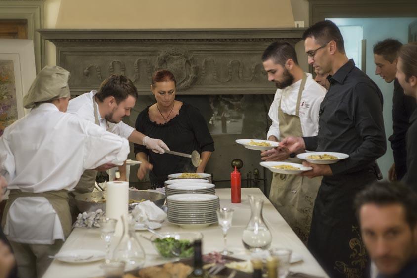 hard work in teh tuscanbites catering kitchen