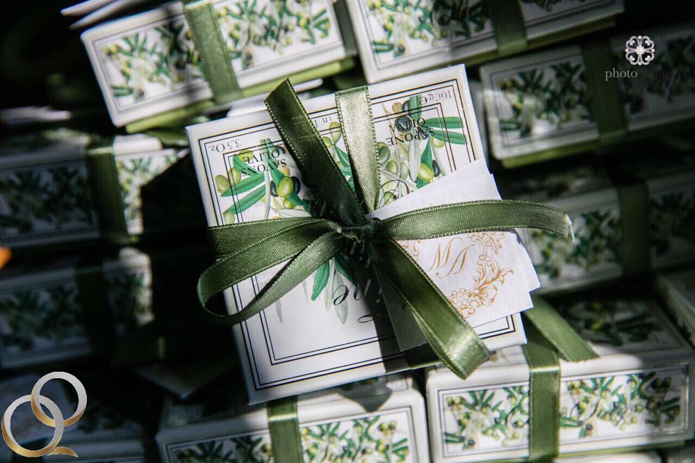 olive oil soap for gift reception table