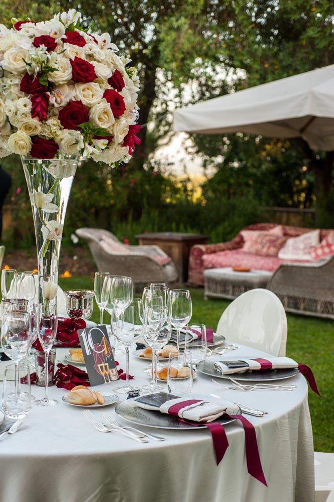 reception details red rose