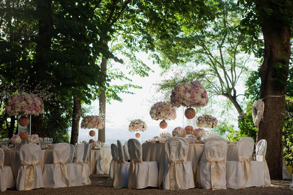 reception setting outdoor park