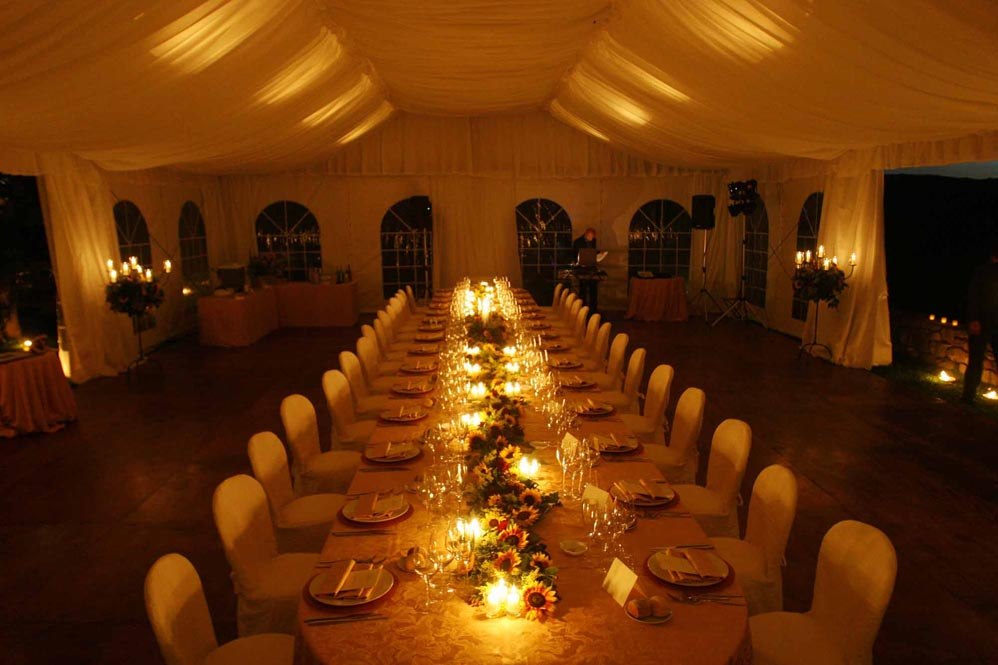 reception settings countrystyle catering