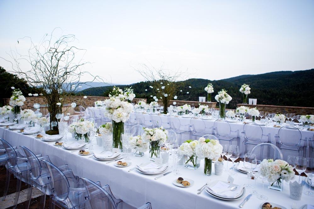 total white settings tuscany villa