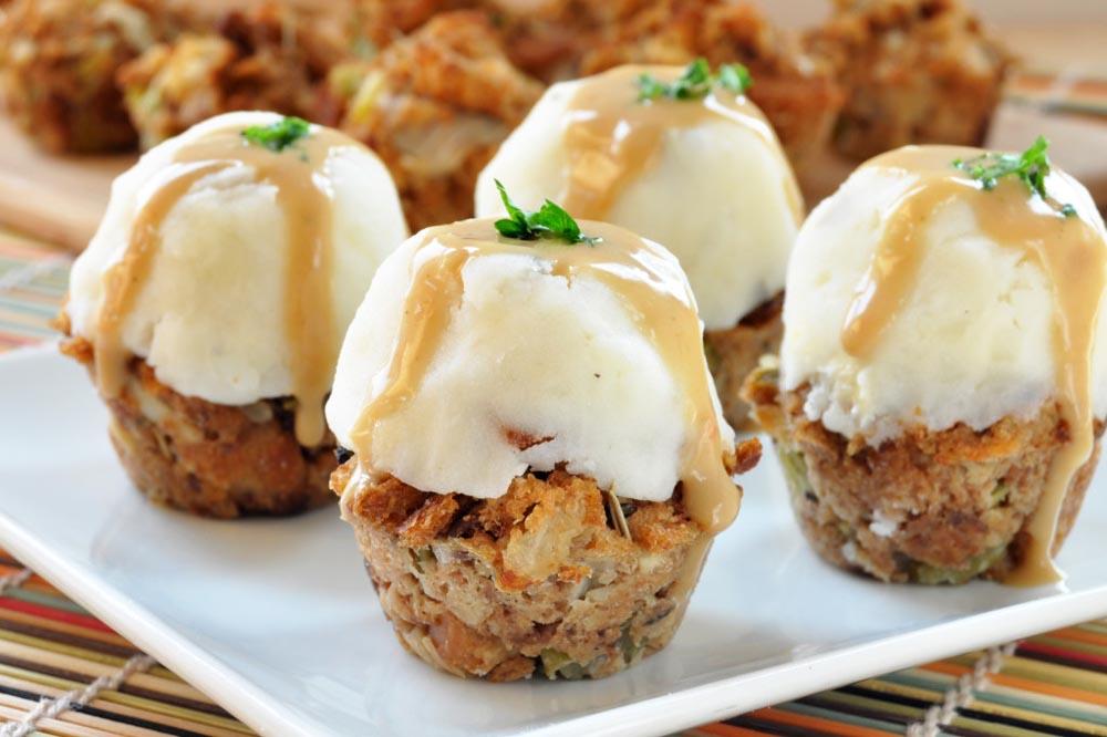 vegan gluten free thanksgiving stuffing muffins