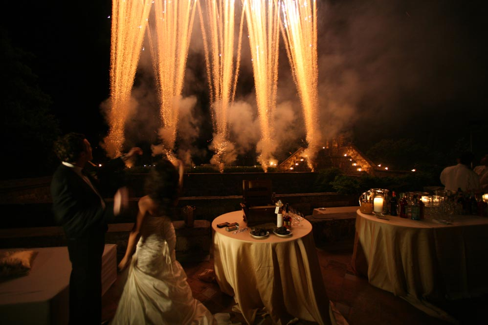 wedding fireworks open bar tuscanbites catering