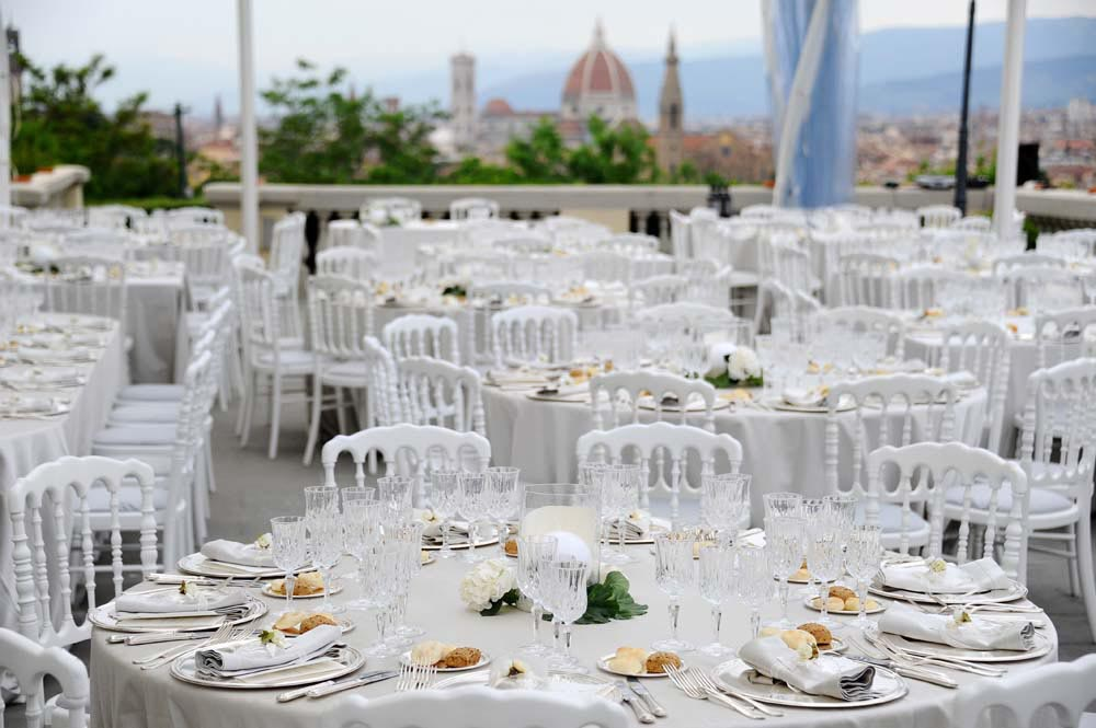 wedding reception with a florence view tuscanbites catering