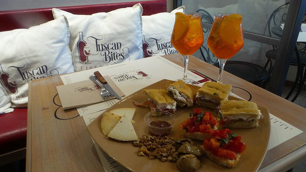 A Bottega tsucanbites light lunch