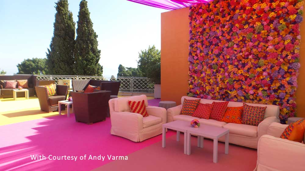 indian design lounge for reception