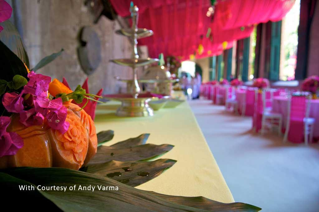 oriental design for reception buffet